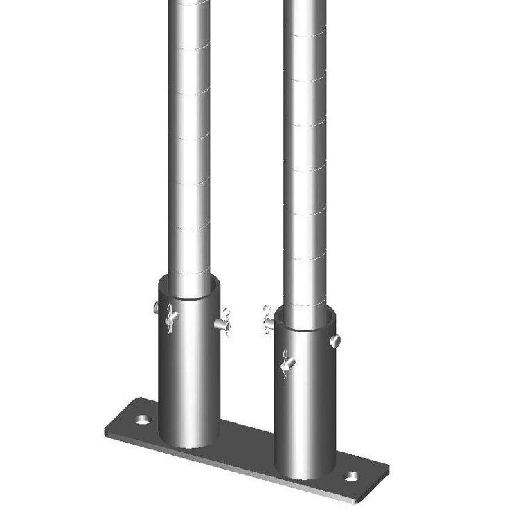 "Metro SAQHD50BP-2 Super Erecta 7"" x 12"" x 1/2"" Two-Post Seismic Bolt Plate Kit for HD Super / MetroMax Q Posts - 2/Pack"