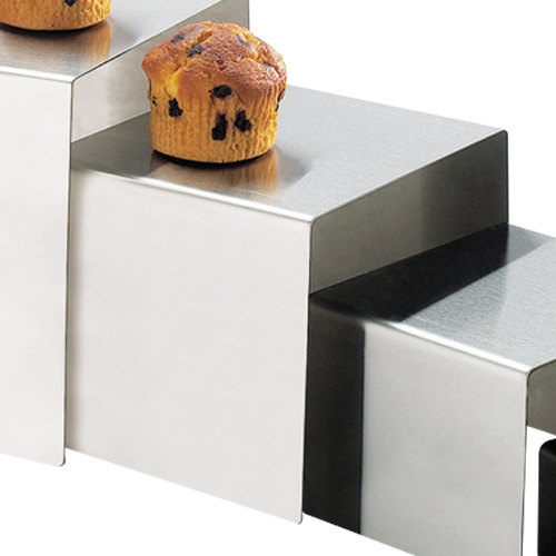 """Cal-Mil 239-6 7"""" x 6"""" Stainless Steel Open Square Riser"""