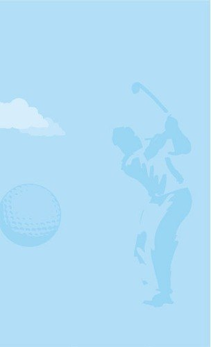 """8 1/2"""" x 11"""" Menu Paper - Country Club Themed Golf Silhouette Design - 100/Pack"""