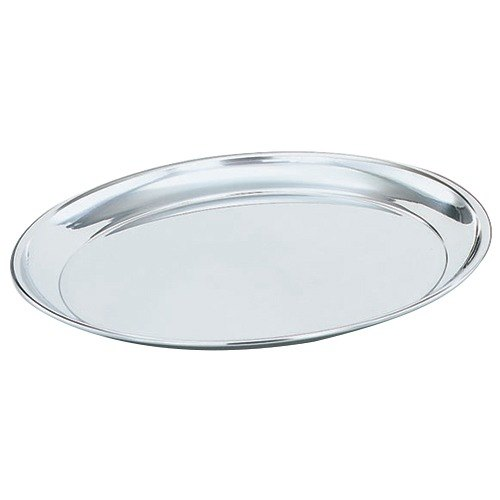 """Vollrath 47214 Mirror-Finished Stainless Steel Round Tray - 14"""" Diameter Main Image 1"""