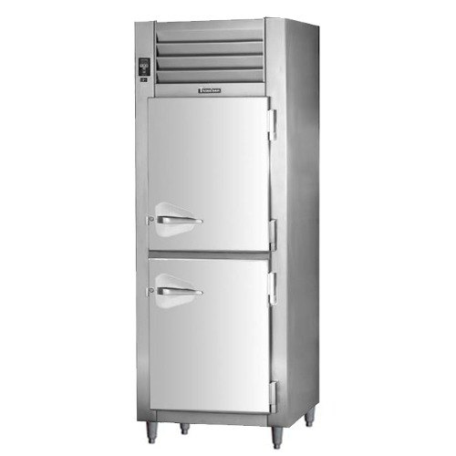 Traulsen RHT126WUT-HHS Stainless Steel 19.1 Cu. Ft. One Section Solid Half Door Shallow Depth Reach In Refrigerator - Specification Line