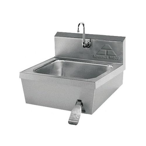 """Advance Tabco 7-PS-30 Hands Free Hand Sink with Knee Valve - 17 1/4"""" Main Image 1"""