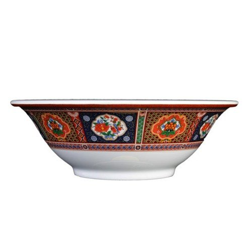 Thunder Group 5106TP Peacock 15 oz. Round Melamine Deep Bowl - 12/Case