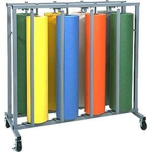 "Bulman R999 36"" Vertical 8 Roll Paper Rack"