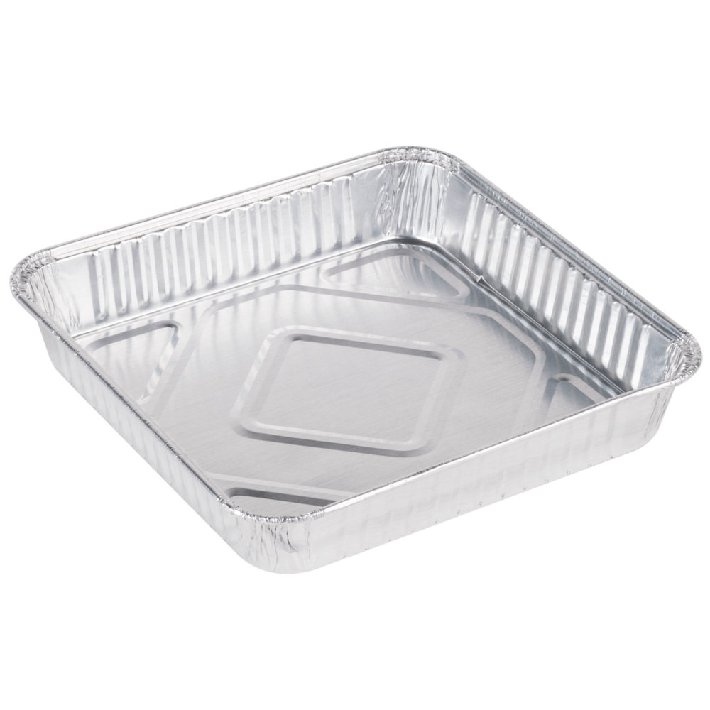 durable packaging 8 inch square foil cake pan 25pack