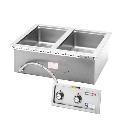 Wells MOD200TDMAF 2 Pan Drop-In Hot Food Well with Drain Manifolds and Autofill - Thermostatic Control Main Image 1