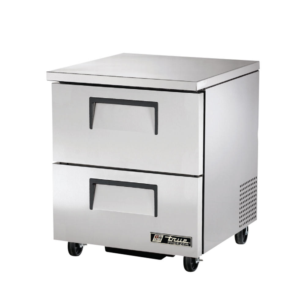 "True TUC-27F-D-2 27"" Deep Undercounter Freezer with Two ..."