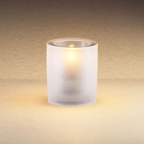 """Sterno Products 80178 3 1/4"""" Frost Mini Bubbles Liquid Candle Holder"""