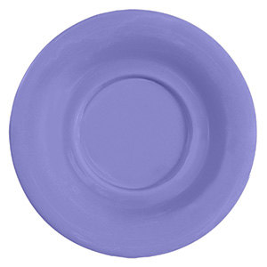 "GET SU-3-PB Diamond Mardi Gras 5 1/2"" Peacock Blue Melamine Saucer for GET B-105, BC-70, BC-170, B-454, and C-107 Bowls and Mugs - 48/Case"
