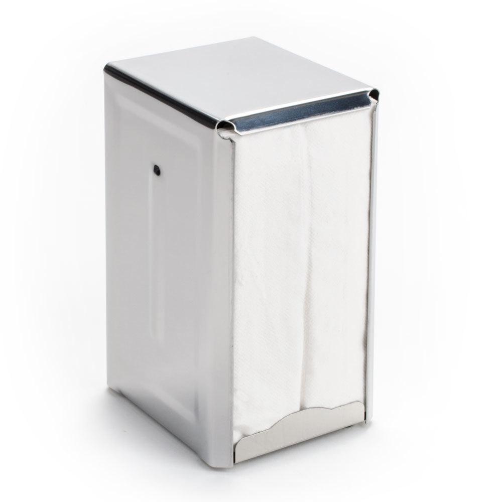 San Jamar H900XC Stainless Steel Tallfold Table-Top Napkin Dispenser