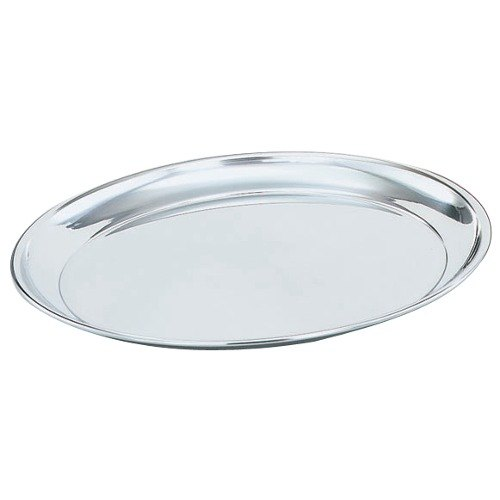 """Vollrath 47212 Mirror-Finished Stainless Steel Round Tray - 12"""" Diameter"""