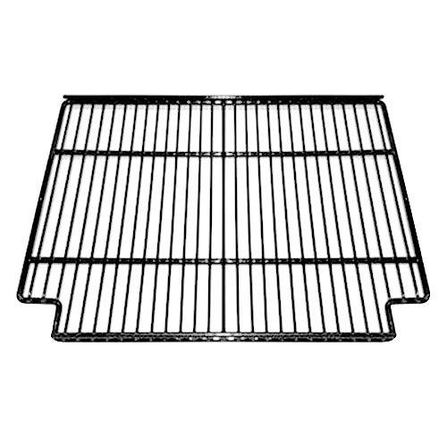 """True 921785 Black Coated Narrow Gap Wire Shelf with Shelf Clips - 19 5/8"""" x 16 1/4"""""""