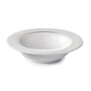 CAC GAD-10 Garden State 11.5 oz. Bone White Porcelain Fruit Bowl - 36/Case