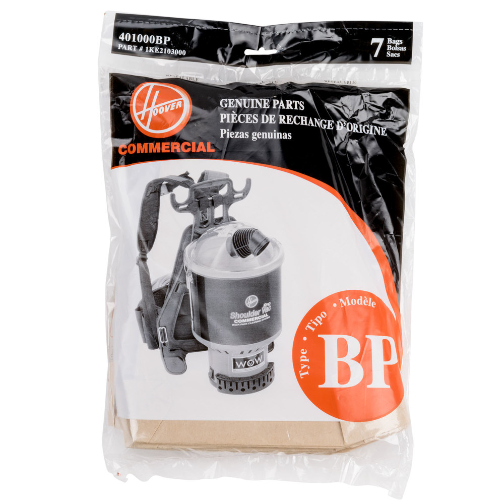 Hoover 401000bp Type Bp Vacuum Bag For Backpack Canister
