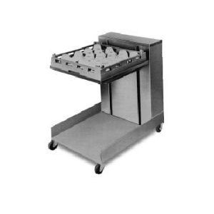 """APW Wyott Lowerator CTR-1418 Mobile Open Cantilever Tray Dispenser for 14"""" x 18"""" Trays"""