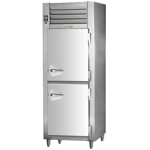 Traulsen RET132EUT-HHS Stainless Steel 26 Cu. Ft. Single Section Half Door Even Thaw Reach In Refrigerator - Specification Line