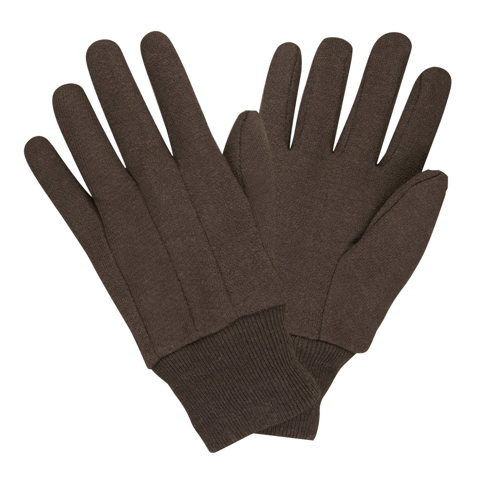 premium brown jersey gloves large 12 pairs pack
