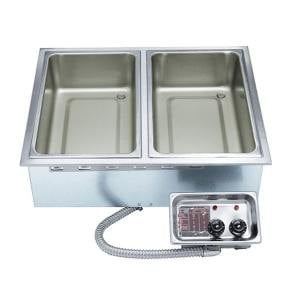 APW Wyott HFW-2 Insulated Two Pan Drop In Hot Food Well