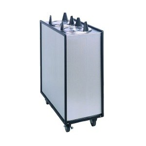 """APW Wyott Lowerator HML4-10 Mobile Enclosed Heated Four Tube Dish Dispenser for 9 1/4"""" to 10 1/8"""" Dishes - 208/240V"""