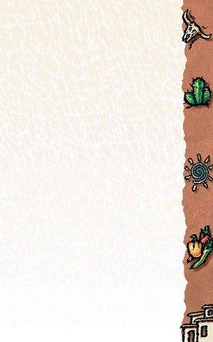 """8 1/2"""" x 11"""" Menu Paper Right Insert - Southwest Themed Desert Design - 100/Pack"""