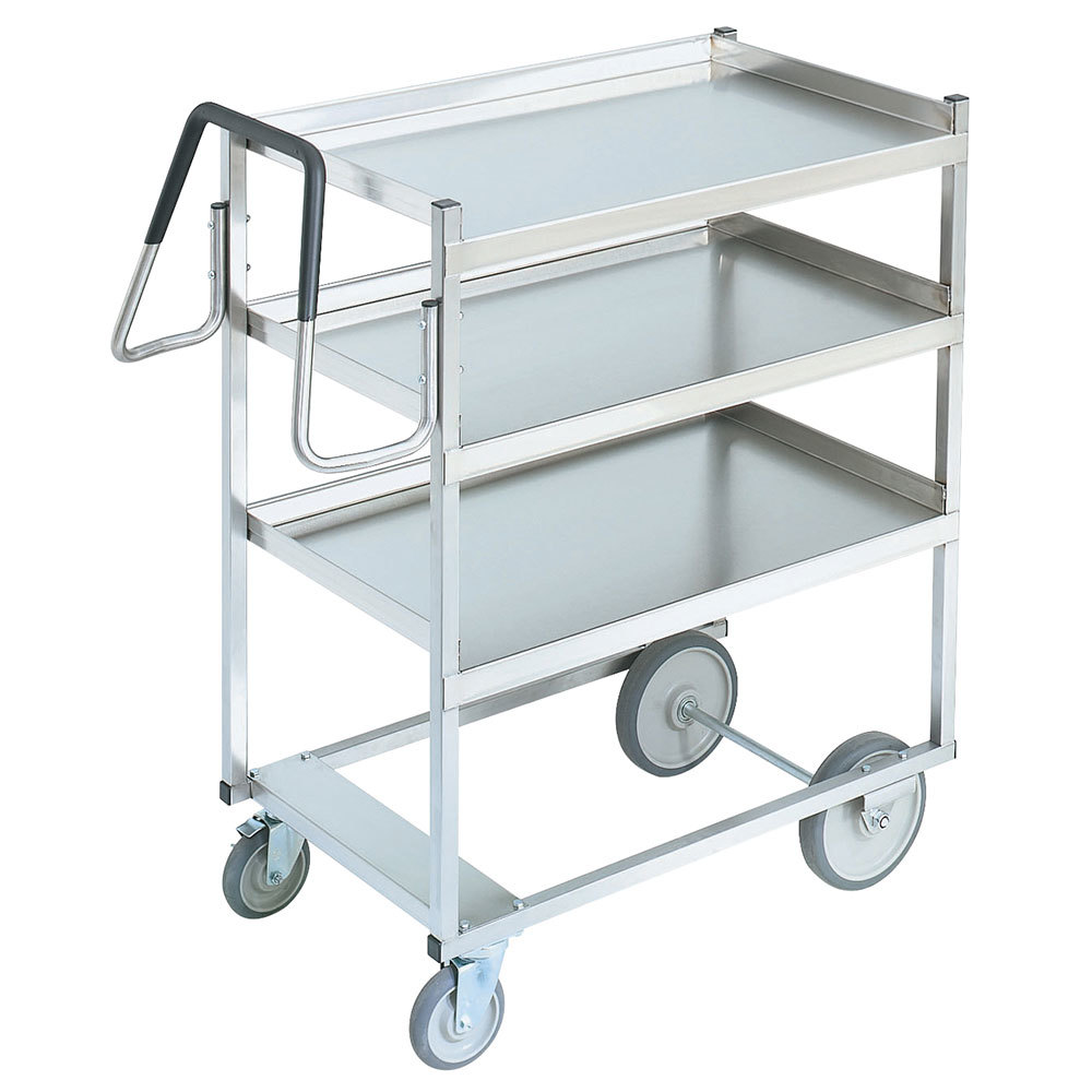 Vollrath 97203 Heavy Duty Stainless Steel 3 Shelf Utility Cart