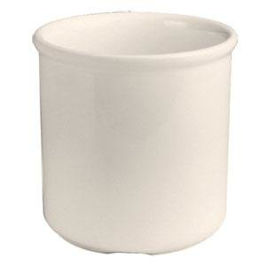 Hall China 3000AWHA Ivory (American White) 1 Pint Bain Marie Jar - 12/Case