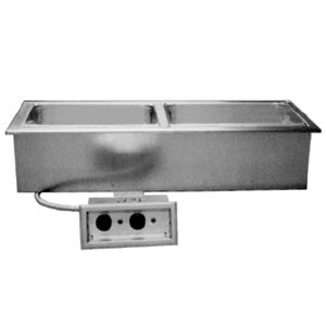 Delfield N8746ND Narrow Two Pan Drop In Hot Food Well with Drain