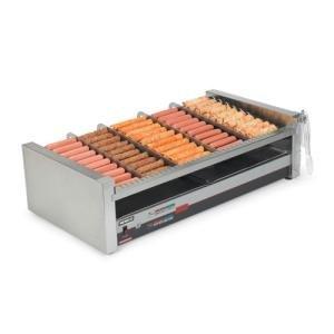 Nemco 8230-SLT Digital Slanted Hot Dog Roller Grill - 30 Hot Dog Capacity (120V)