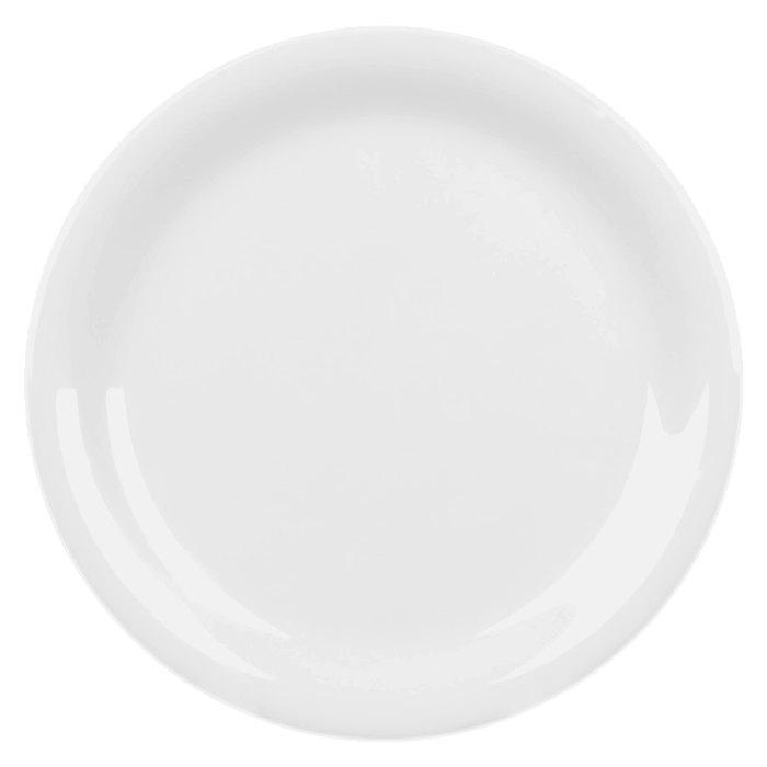 """Thunder Group CR106W 6 1/2"""" White Narrow Rim Melamine Plate - 12/Pack Main Image 1"""