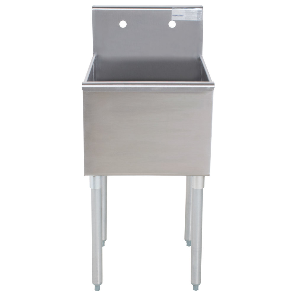 Advance Tabco 6 1 18 One Compartment Stainless Steel Commercial Sink   18  Inch ...