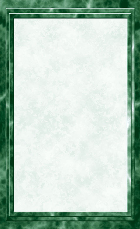 "8 1/2"" x 14"" Menu Paper - Green Marble Border - 100/Pack"