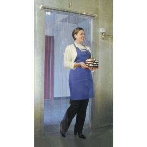 "Curtron M106-PR-7980 79"" x 80"" Polar Reinforced Step-In Refrigerator / Freezer Strip Door Main Image 1"