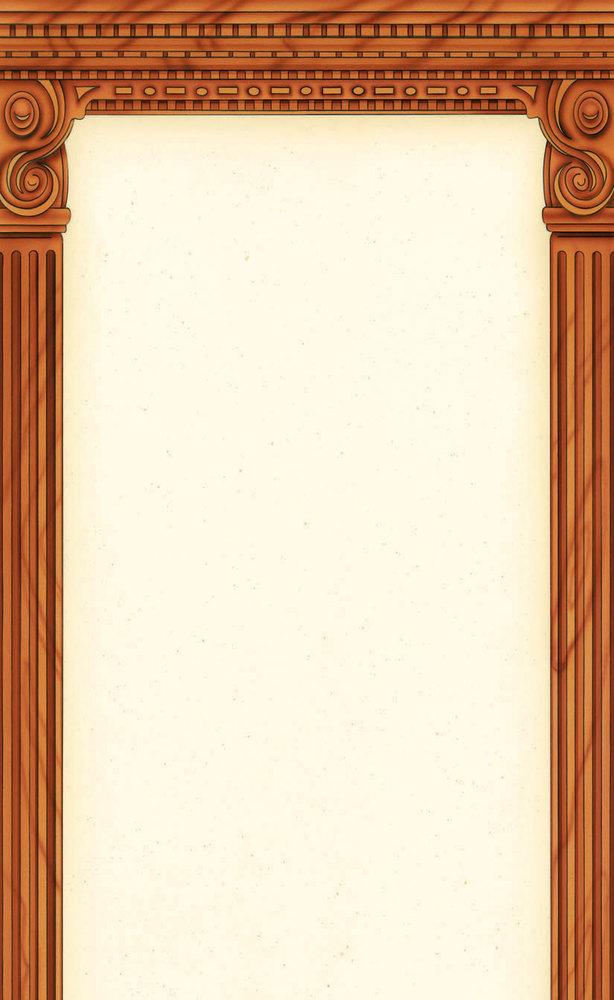 "8 1/2"" x 14"" Menu Paper - Mediterranean Themed Column Design - 100/Pack Main Image 1"