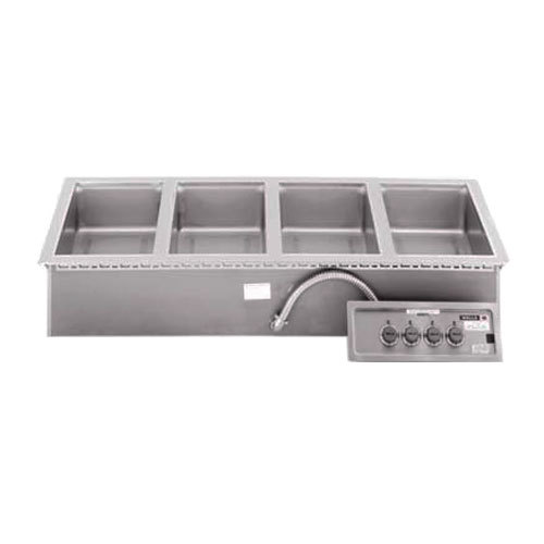 Wells 5P-MOD400DM 4 Pan Drop-In Hot Food Well with Drain Manifolds - Infinite Control Main Image 1