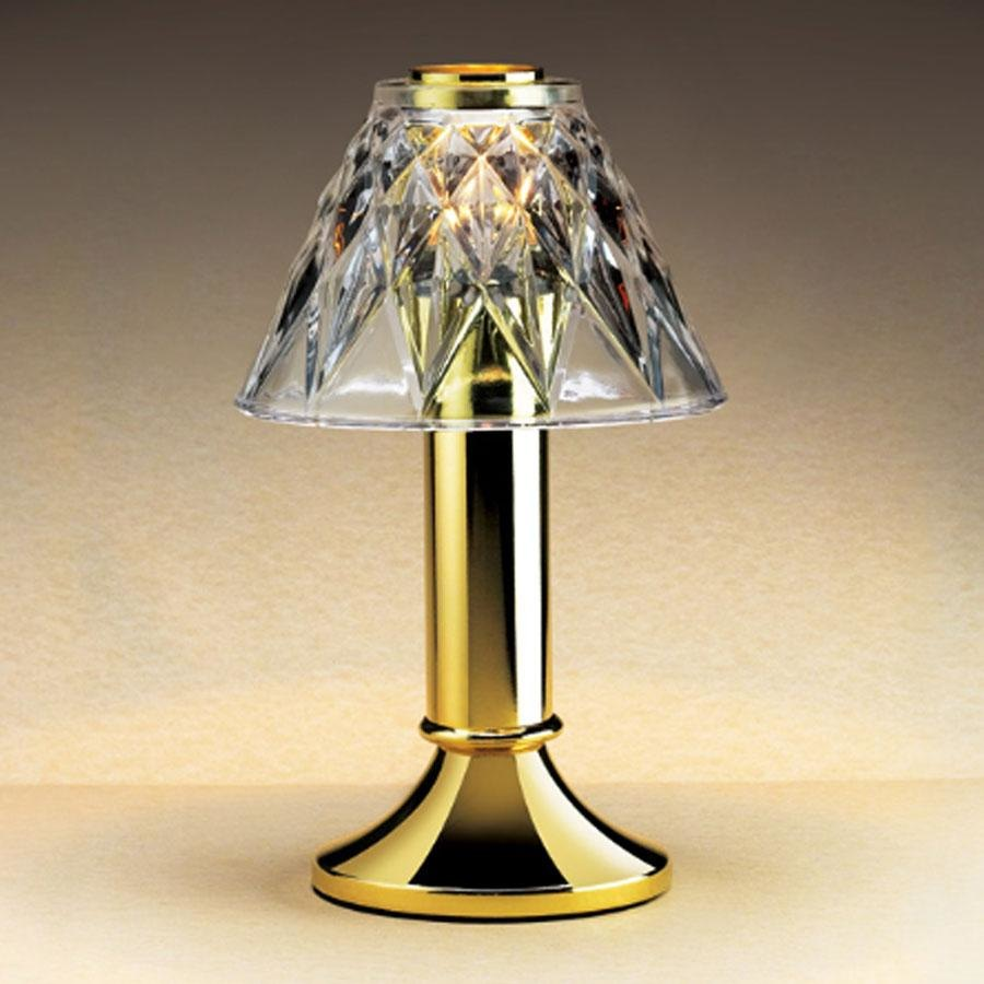 Commercial Table Lamps: Sterno Products 85442 Table Lamp Glass Diamond Cut Clear Shade
