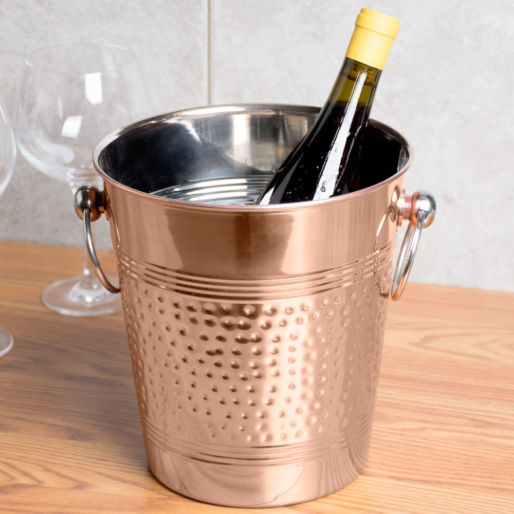 american metalcraft wbc hammered copper wine bucket -  image preview