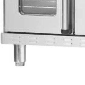 Alto-Shaam 5004688 Stainless Steel Leg Kit with Seismic Feet for ASC-2E and ASC-2E/E Convection Ovens - 4""