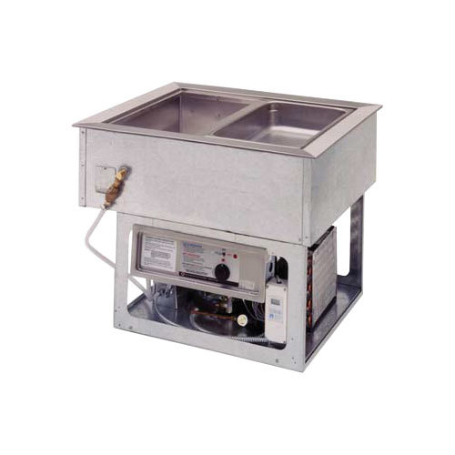 Wells HRCP7400ST Drop In Cold / Hot 4 Pan Dual Temp Well - Sloped Top