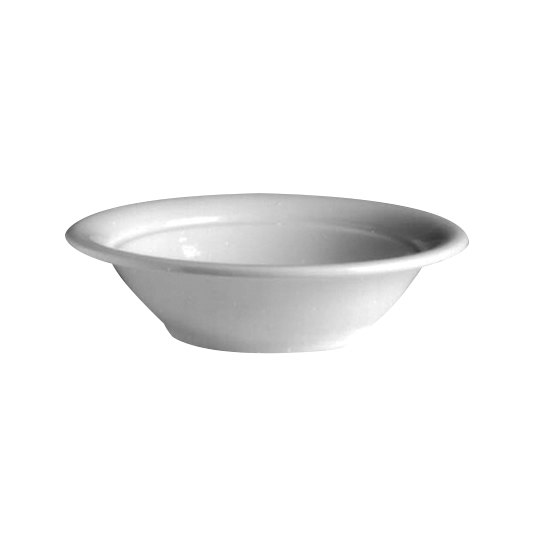 Hall China 19250AWHA 40 oz. Ivory (American White) China Salad / Pasta Bowl - 12/Case