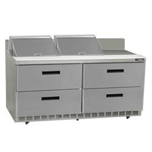 "Delfield STD4464N-12 64"" 4 Drawer Refrigerated Sandwich Prep Table with 4"" Backsplash"