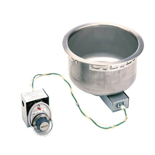 Wells SS8D 7 Qt. Round Drop-In Soup Well with Drain - Top Mount, Infinite Control, 120V Main Image 1