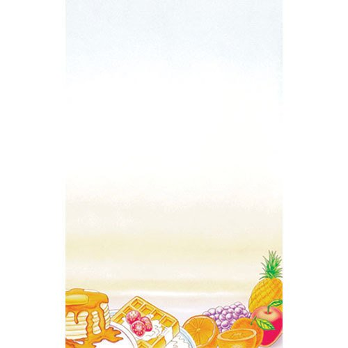 """8 1/2"""" x 14"""" Menu Paper - Breakfast Themed Rooster Design Right Insert - 100/Pack"""