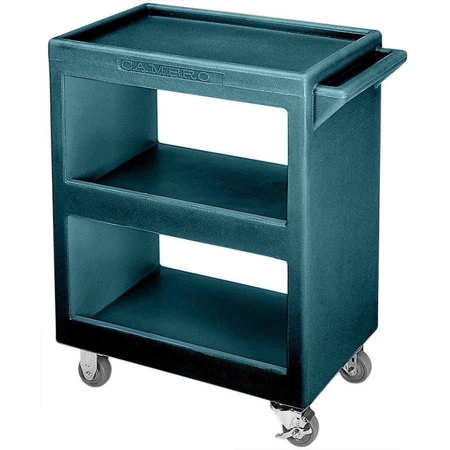 Cambro BC2254S192 Granite Green Three Shelf Service Cart - 28\