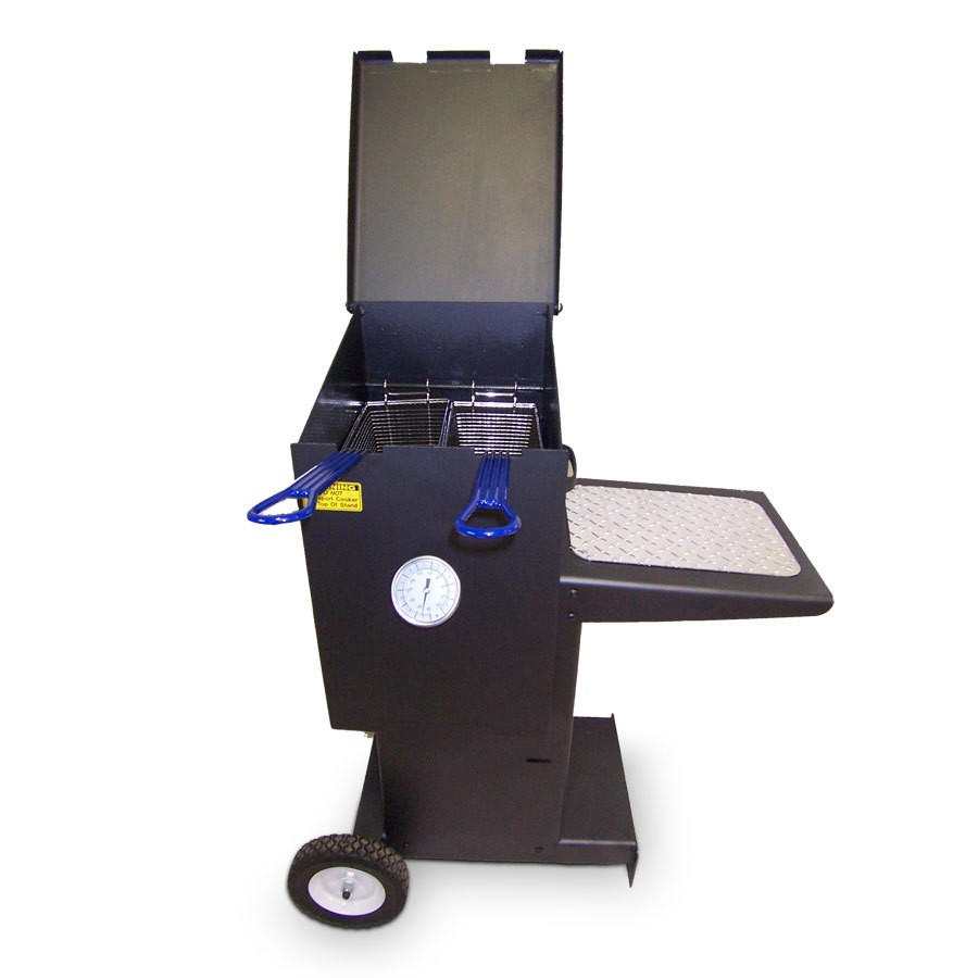 R v works ff2 4 gal outdoor cajun deep fryer with stand for Cajun fish fryer