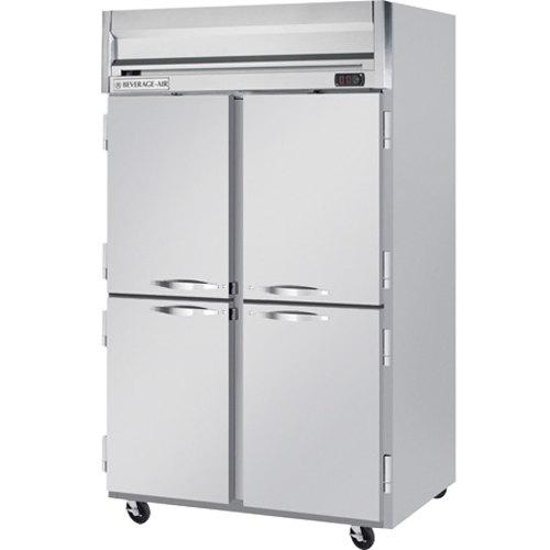 "Beverage-Air HRS2-1HS Horizon Series 52"" Solid Half Door Reach-In Refrigerator with Stainless Steel Interior"