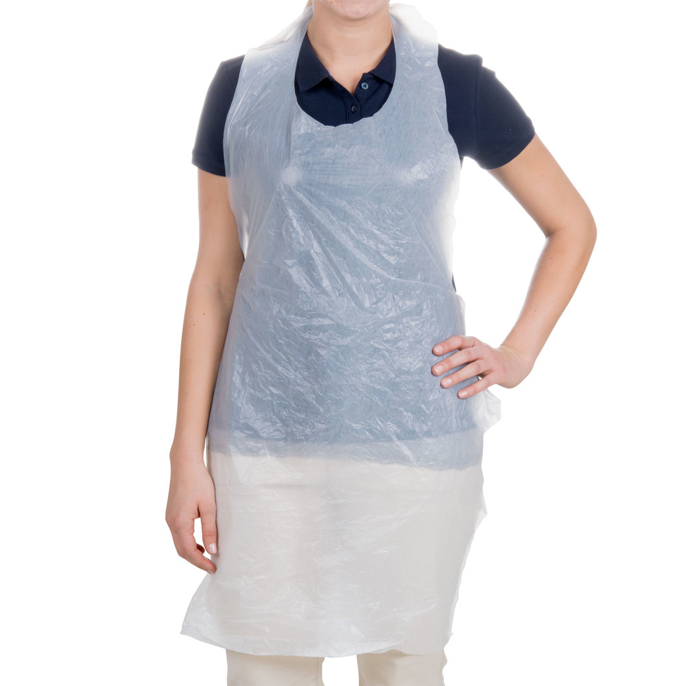 White apron meaning - Choice 42 Inch X 24 Inch 50 Mil Disposable Poly Apron 100 Box