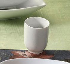 CAC SHA-17 Sushia 8 oz. Super White Porcelain Tea / Sake Cup - 36/Case