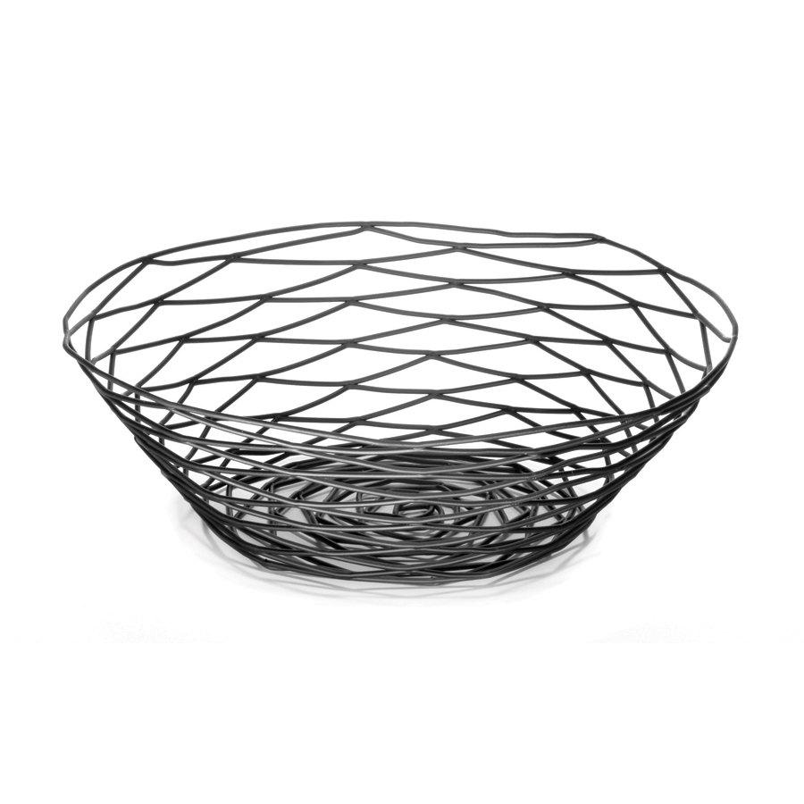 tablecraft bk17510 artisan round black wire basket 10 x 3. Black Bedroom Furniture Sets. Home Design Ideas