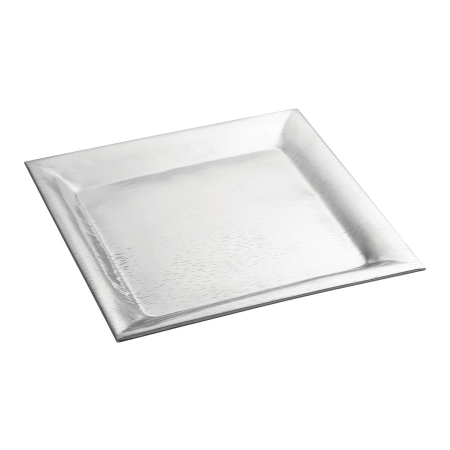 tablecraft r remington  x  square stainless steel tray -  stainless steel tray main picture