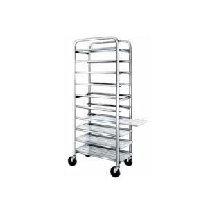 "Winholt SS-106 End Load Stainless Steel Platter Cart - Six 10"" Trays"